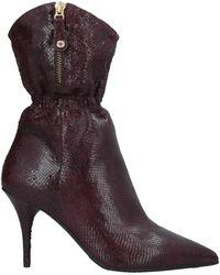 Elvio Zanon Ankle Boots - Purple