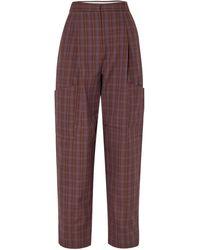 Tibi Casual Pants - Brown