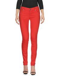 HTC Pantalon en jean - Rouge
