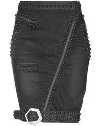 Philipp Plein Denim Skirt - Black