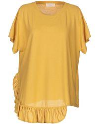 Zanone T-shirt - Yellow