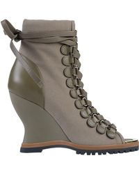 Chloé River Wedge Boots - Green