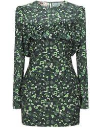 G!NA Short Dress - Green