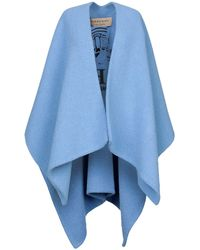 Burberry Poncho - Azul