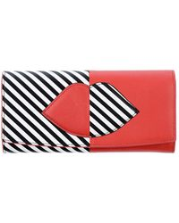 Lulu Guinness Portefeuille - Rouge