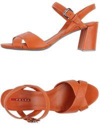 Prada Linea Rossa Sandals - Orange