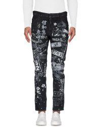 DSquared² Graffiti-print Skater Jeans - Black