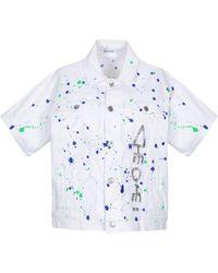 P.A.R.O.S.H. Denim Outerwear - White