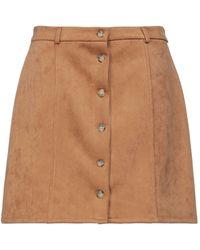 KATE BY LALTRAMODA Mini Skirt - Natural