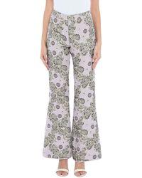 Giamba Casual Trousers - Purple
