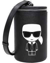 Karl Lagerfeld Bolso con bandolera - Negro