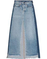 Marcelo Burlon Gonna jeans - Blu