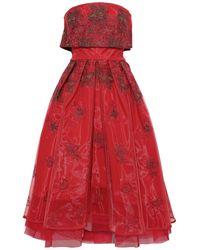 Zac Posen Midi Dress - Red