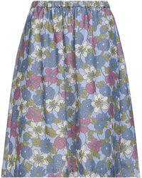 YMC Midi Skirt - Blue