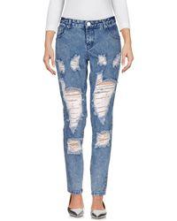 Glamorous Denim Trousers - Blue