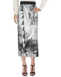 Alberta Ferretti Long Skirt - Gray