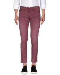 People Denim Pants - Purple