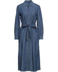 Le Mont St Michel Midi Dress - Blue