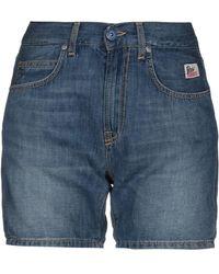 Roy Rogers Denim Shorts - Blue