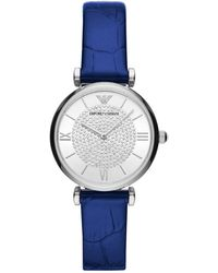 Emporio Armani Montre de poignet - Bleu