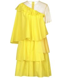 House of Holland Robe aux genoux - Jaune