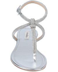 Ninalilou Toe Strap Sandal - Metallic