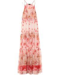 Les Copains Vestido largo - Rosa
