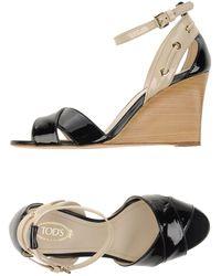 Tod's Sandale - Schwarz