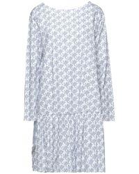 Aglini Kurzes Kleid - Weiß