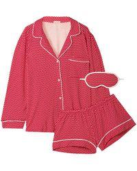 Eberjey Pyjama - Rot