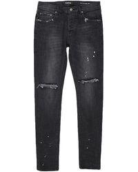 Purple Denim Trousers - Black