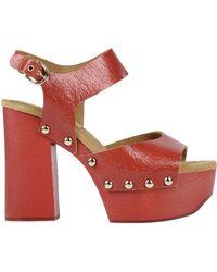 Jil Sander Navy Sandals - Red