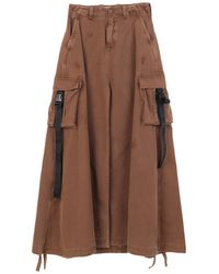 Palm Angels Long Skirt - Brown
