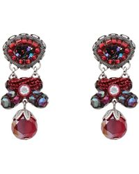 Ayala Bar Earrings - Red