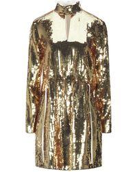 Tibi Short Dress - Metallic