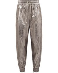 Jason Wu Metallic Foiled Shell Track Trousers