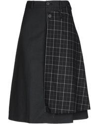 ADER error 3/4 Length Skirt - Black