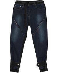 Sacai Pantalon en jean - Bleu