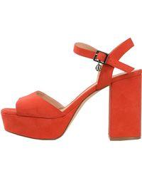 Armani Exchange Heeled Sandals Red