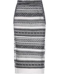 Nude 3/4 Length Skirt - White