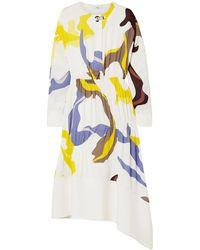 Tibi 3/4 Length Dress - White