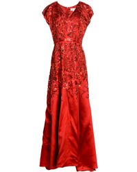 Mikael Aghal Long Dress - Red