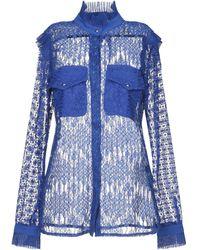 Just Cavalli Camisa translúcida de encaje - Azul