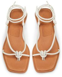 8 by YOOX Toe Strap Sandals - White