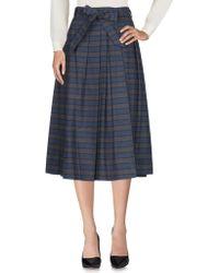 Aglini 3/4 Length Skirt - Gray