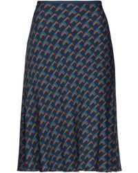 Siyu Falda a media pierna - Azul