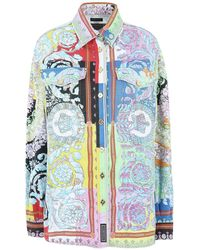 Versace Manteau en jean - Bleu