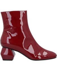Emporio Armani Ankle Boots - Red