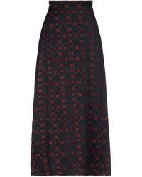 Marine Serre 3/4 Length Skirt - Black