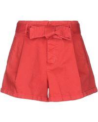 Jucca Denim Shorts - Red